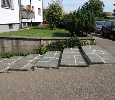 Renovation: Granitbodenplatten