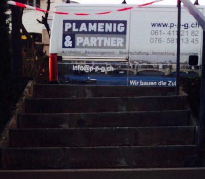 Renovation: Aussen-Treppe Pflasterstein neu setzen und verlegen